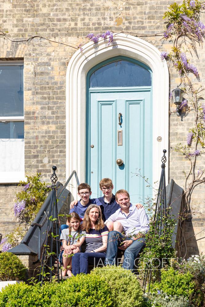 Front Door Photo - a Family Portrait on the doorstep